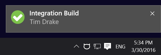 CatLight successful build status notificaion